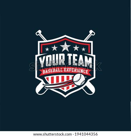 Modern professional baseball template logo design for baseball club