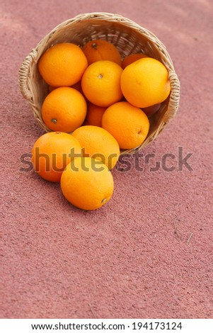 orange fruits in wicker basket #194173124