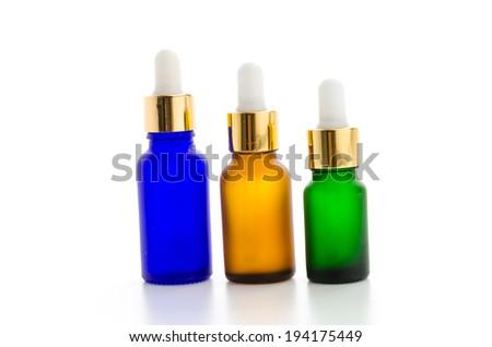 Cosmetics bottles isolated on white #194175449
