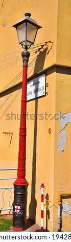 lamppost on the anita garibaldi promenade in genoa nervi Italy Royalty-Free Stock Photo #1942808329