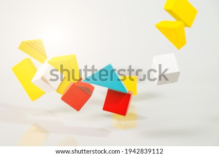 Earth Quake, Building or house shaking, house Insurance concept Royalty-Free Stock Photo #1942839112