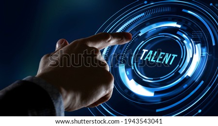 Internet, business, Technology and network concept.Open your talent and potential. Talented human resources - company success Royalty-Free Stock Photo #1943543041