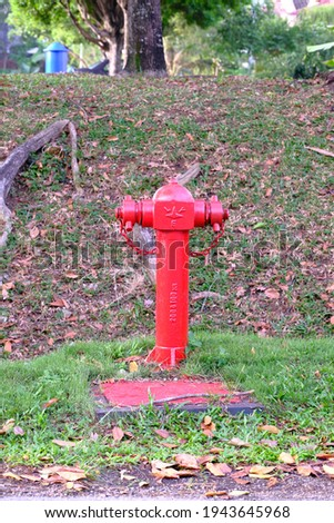Picture of a red fire hydrant point.
