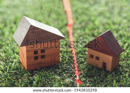 Boundary of the house grounds Royalty-Free Stock Photo #1943850298