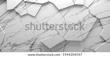 White marble with veins, Emperador marbel texture with high resolution, The luxury of polished limestone background. Marble with Polygon Design 3D Wallpaper