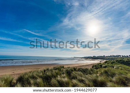 Seahouses is a large village on the North Northumberland coast in England. It is about 20 kilometres (12 mi) north of Alnwick, within the Northumberland Coast Area of Outstanding Natural Beauty. Royalty-Free Stock Photo #1944629077