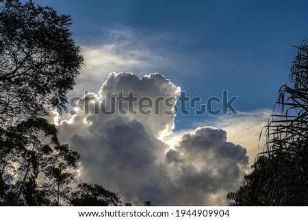 Cumulus nimbus formation on a summer afternoon, Rio de Janeiro, Brasil Royalty-Free Stock Photo #1944909904