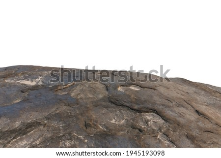 Cliff stone located part of the mountain rock isolated on white background. Royalty-Free Stock Photo #1945193098