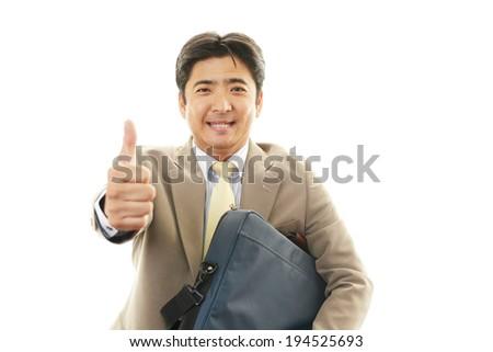 Businessman enjoying success #194525693