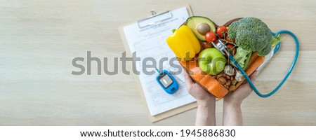 Keto food for ketogenic and cholesteral diet, healthy nutritional eating lifestyle for good heart health with high fat protein, low-carb to prevent diabetes illness, diabetic disease control Royalty-Free Stock Photo #1945886830