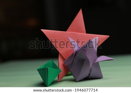 Origami Star Flower Boat by Paper Stock Photo HD Folding for Decoration