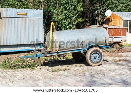 water tanker used to transport water