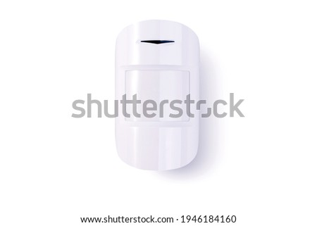 Motion sensor against a white background. Security system equipment.