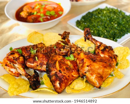 Delicious Homemade Baked Chicken With Chips