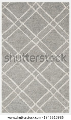 Handmade traditional modern wool Area rug. Royalty-Free Stock Photo #1946613985