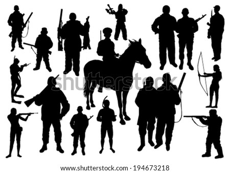 Hunting Silhouettes Set #194673218