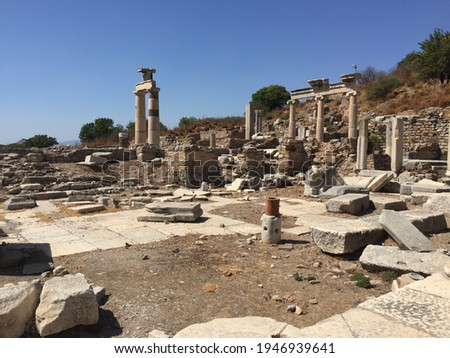 Ancient Ruins, Roman Ruins, Greek Ruins, Ancient Pillars, City Ruins Royalty-Free Stock Photo #1946939641
