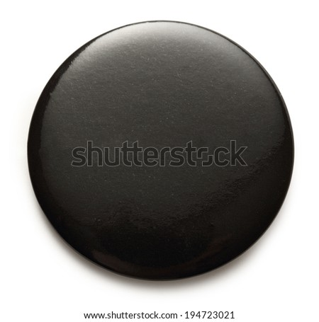 Blank black round badge on white background #194723021
