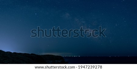 Spring Milky Way and Scorpio over the sea