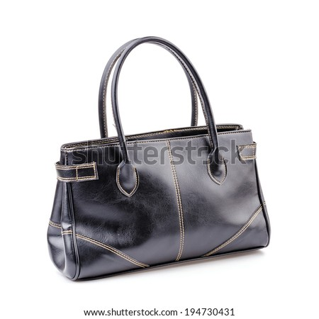 Woman leather bag isolated white background #194730431