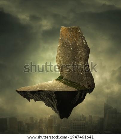 float stones, photo background for manipulation