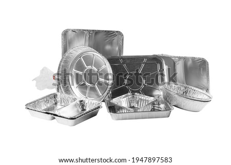Aluminum Foil Food Packaging isolated on white background Royalty-Free Stock Photo #1947897583