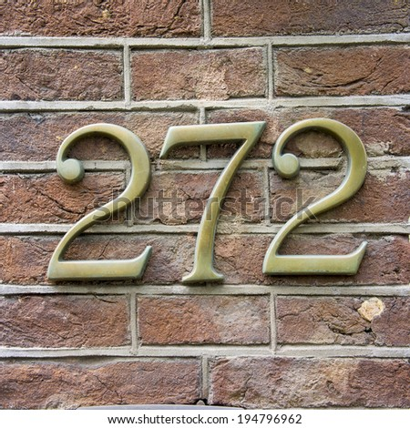 bronze house number two hundred and seventy two.