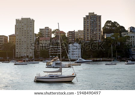 McMahons Point and Lavender bay as seen from Milsons point. Royalty-Free Stock Photo #1948490497