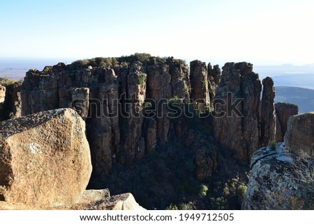 The Valley of Desolation near the Karoo town of Graaff-Reinet in the Eastern Cape Royalty-Free Stock Photo #1949712505