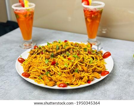 Delicious homemade Spaghetti with Soya Chunks