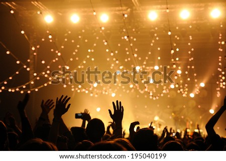 People have fun in a concert Royalty-Free Stock Photo #195040199