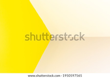 Yellow triangle wall corner dimensional picture for background design