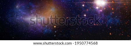 Nebula and galaxies in space. Space many light years far from the Earth. Elements of this image furnished by NASA.