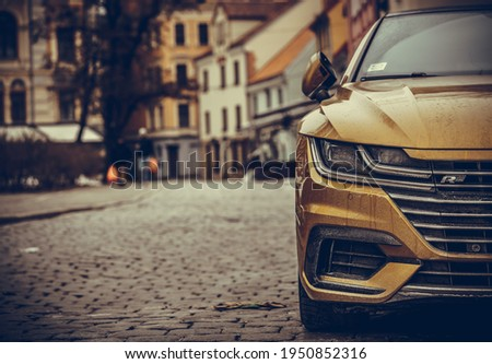 Detail of a beauty and fast sportcar Royalty-Free Stock Photo #1950852316