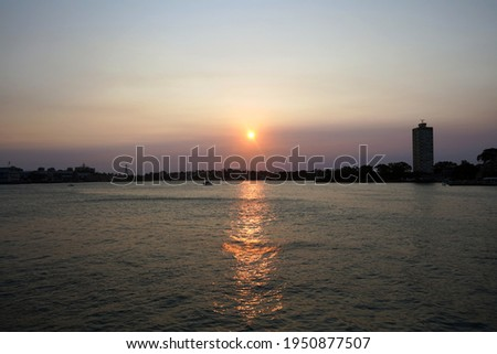 Lavender Bay and Blues Bay during sunset as seen from Milsons Point. Royalty-Free Stock Photo #1950877507