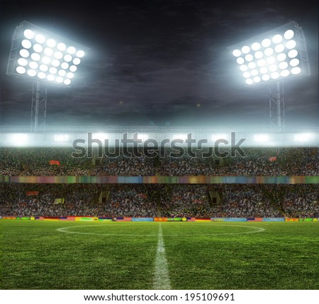 stadium with fans the night before the match #195109691