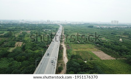Vinh Tuy bridge in Hanoi Royalty-Free Stock Photo #1951176370