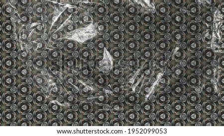 Natural pattern with leaves. Tribal luxury ornate decoration. Royalty-Free Stock Photo #1952099053
