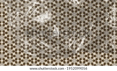 Gold oriental pattern background. Tribal modern ornate decoration. Royalty-Free Stock Photo #1952099056