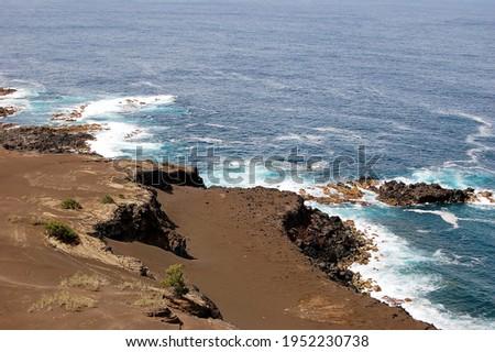 Capelinhos Volcano. Faial island,  Azores, Portugal Royalty-Free Stock Photo #1952230738