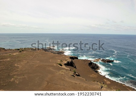 Capelinhos Volcano. Faial island,  Azores, Portugal Royalty-Free Stock Photo #1952230741