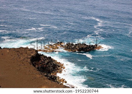 Capelinhos Volcano. Faial island,  Azores, Portugal Royalty-Free Stock Photo #1952230744