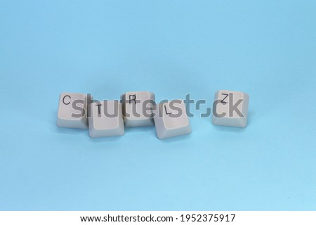 The CTRL +Z key for the shortcut of undo which used in Microsoft Windows application. The if some transaction have don wrongly we easily correct from that. Royalty-Free Stock Photo #1952375917