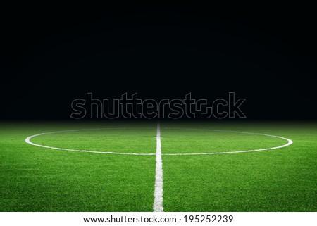 soccer field Royalty-Free Stock Photo #195252239