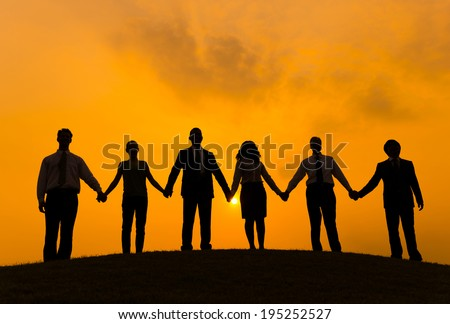 Group of Business People Holding Hand Royalty-Free Stock Photo #195252527
