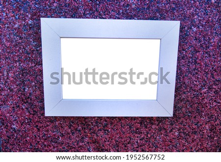 Classic interior and picture frame, Official Building Design. granite chips
