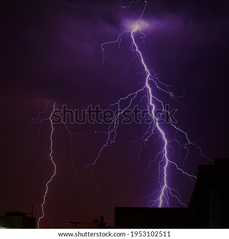 A picture of the Lightning in the Rainy weather
