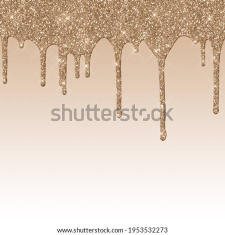 Dripping Brown Glitter Digital Paper Royalty-Free Stock Photo #1953532273