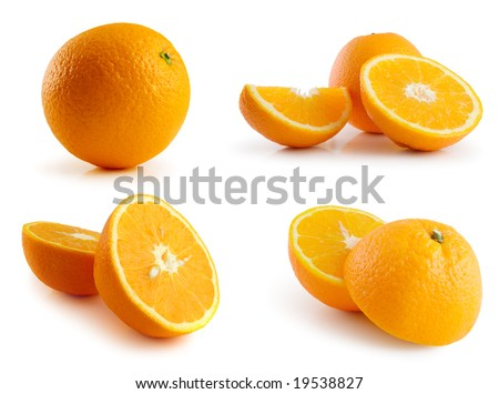 page of oranges isolated on the white background #19538827