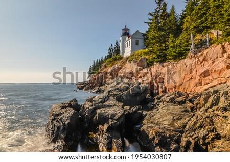 Bass Harbor Lighthouse, Acadia National Park, Maine, New England, USA, North America Royalty-Free Stock Photo #1954030807